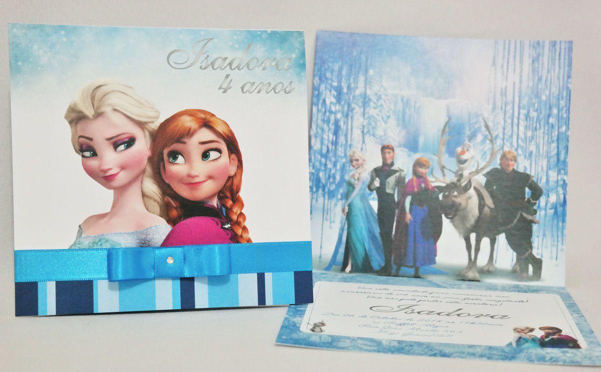 Convite Infantil Frozen