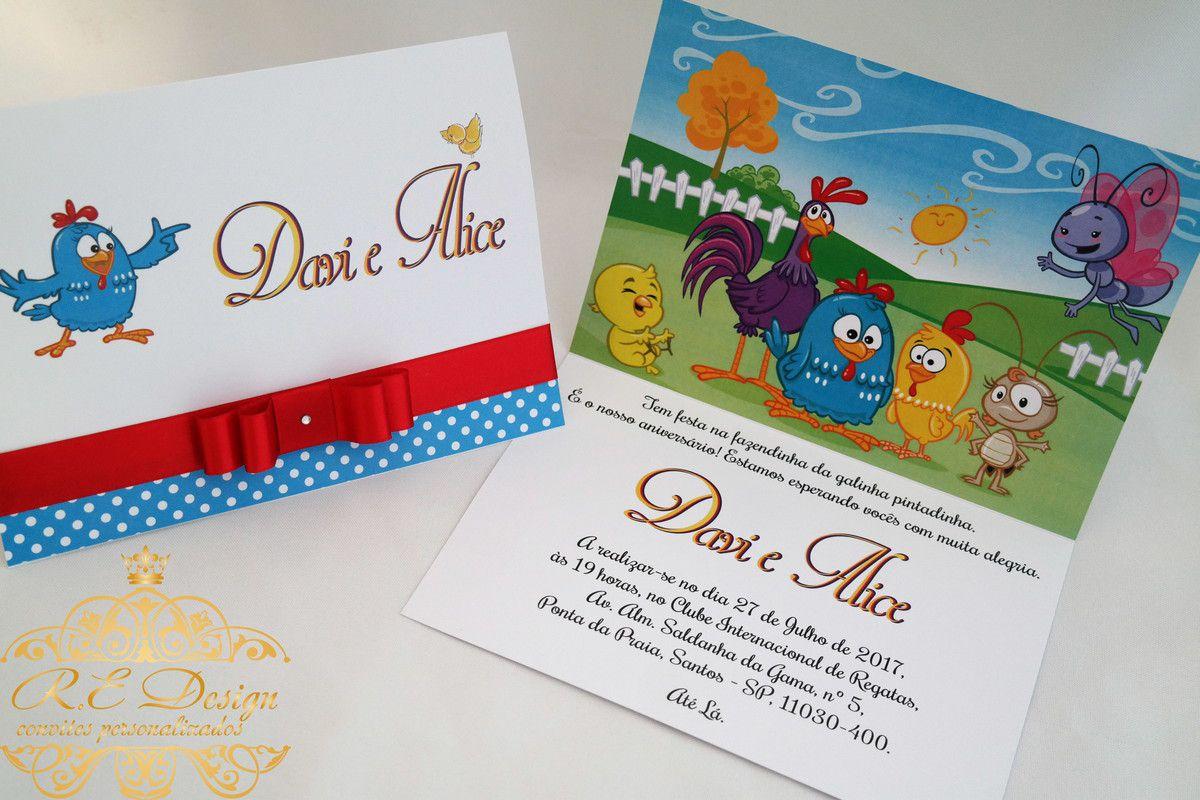 Convite Infantil Galinha Pintadinha