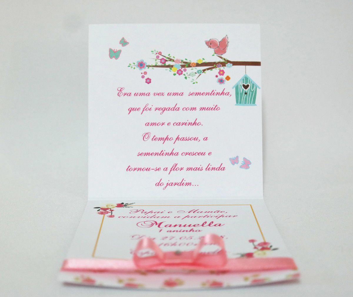 Convite Infantil Jardim Florido