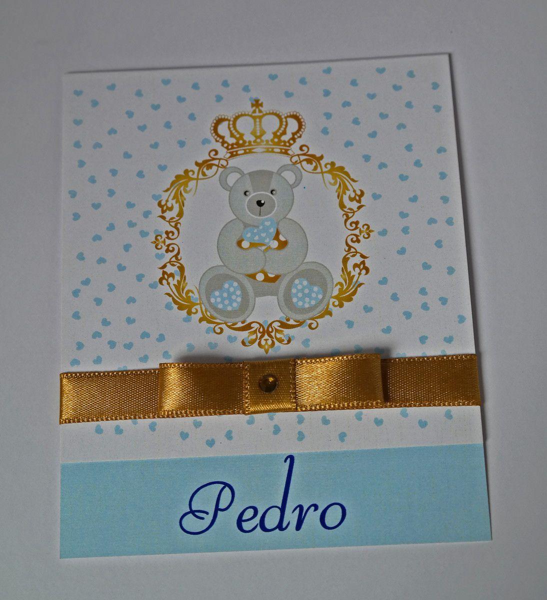 Convite Infantil Menino Urso Príncipe