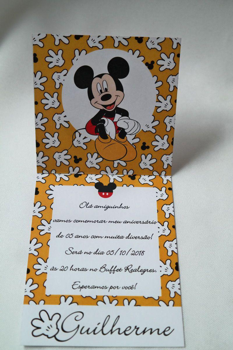 Convite Infantil Mickey