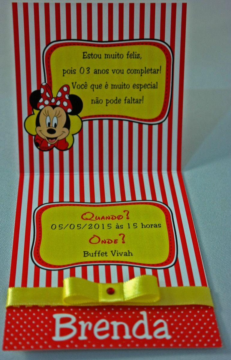 Convite Infantil Minie