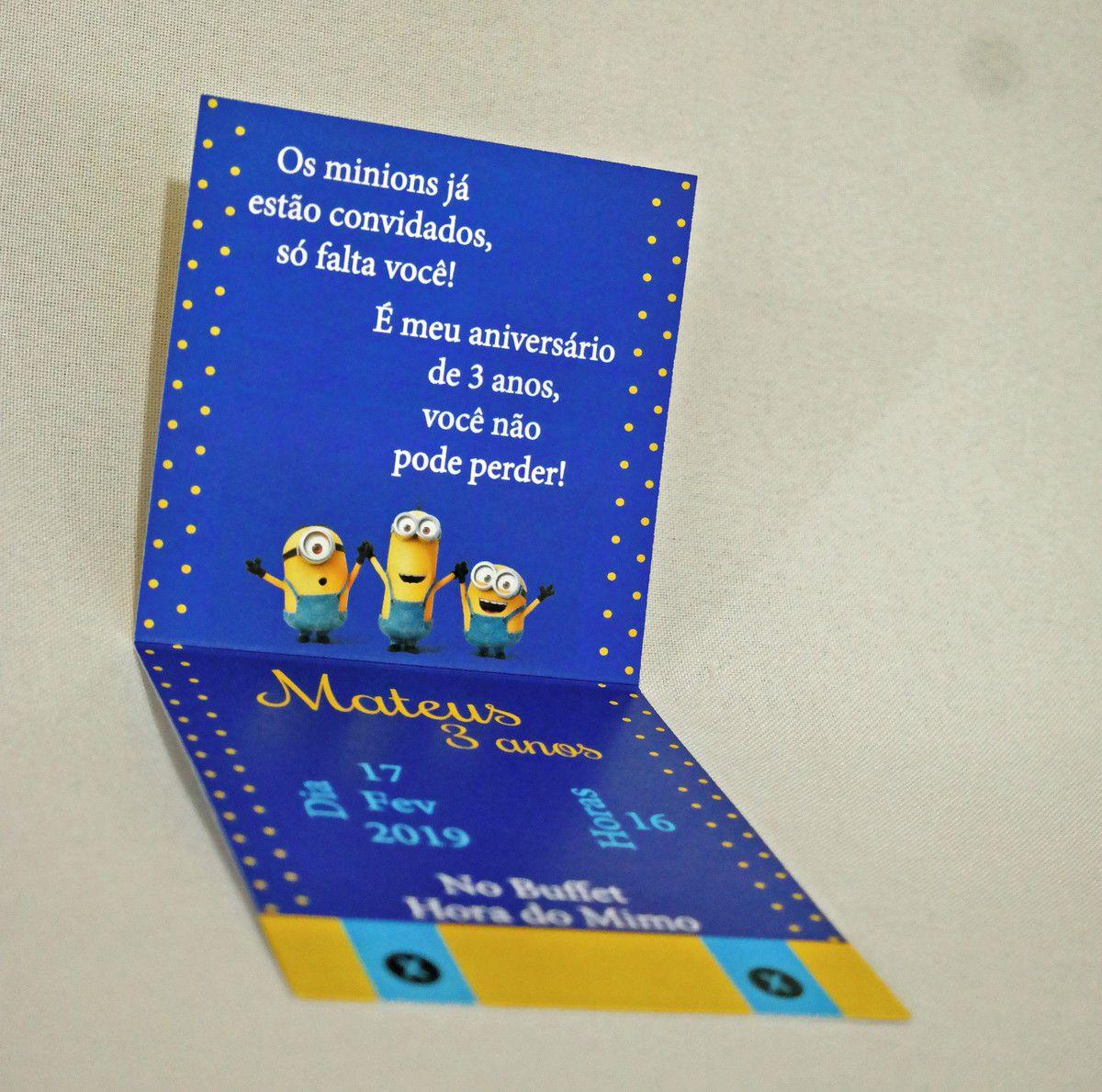Convite Infantil Minions