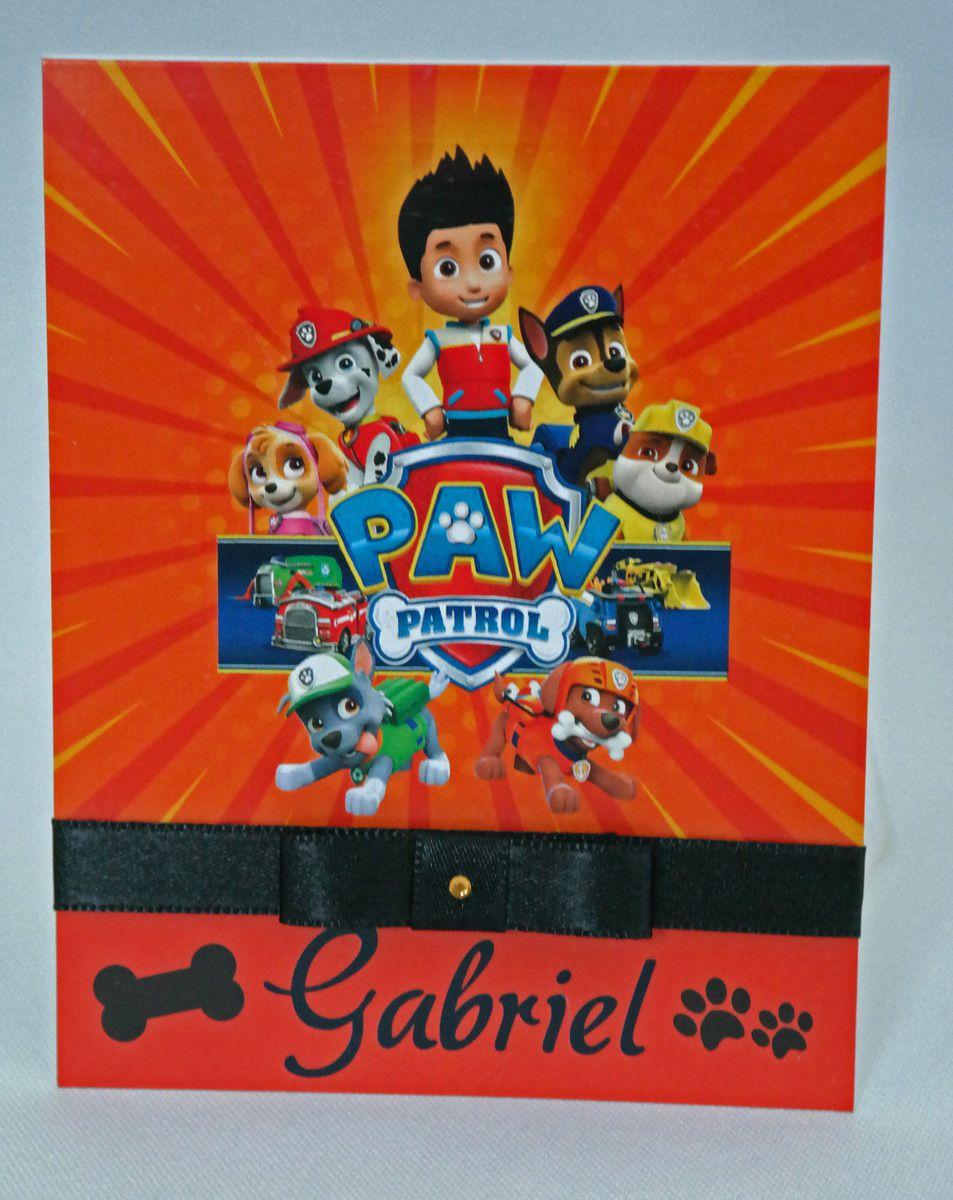 Convite Infantil Patrulha Canina