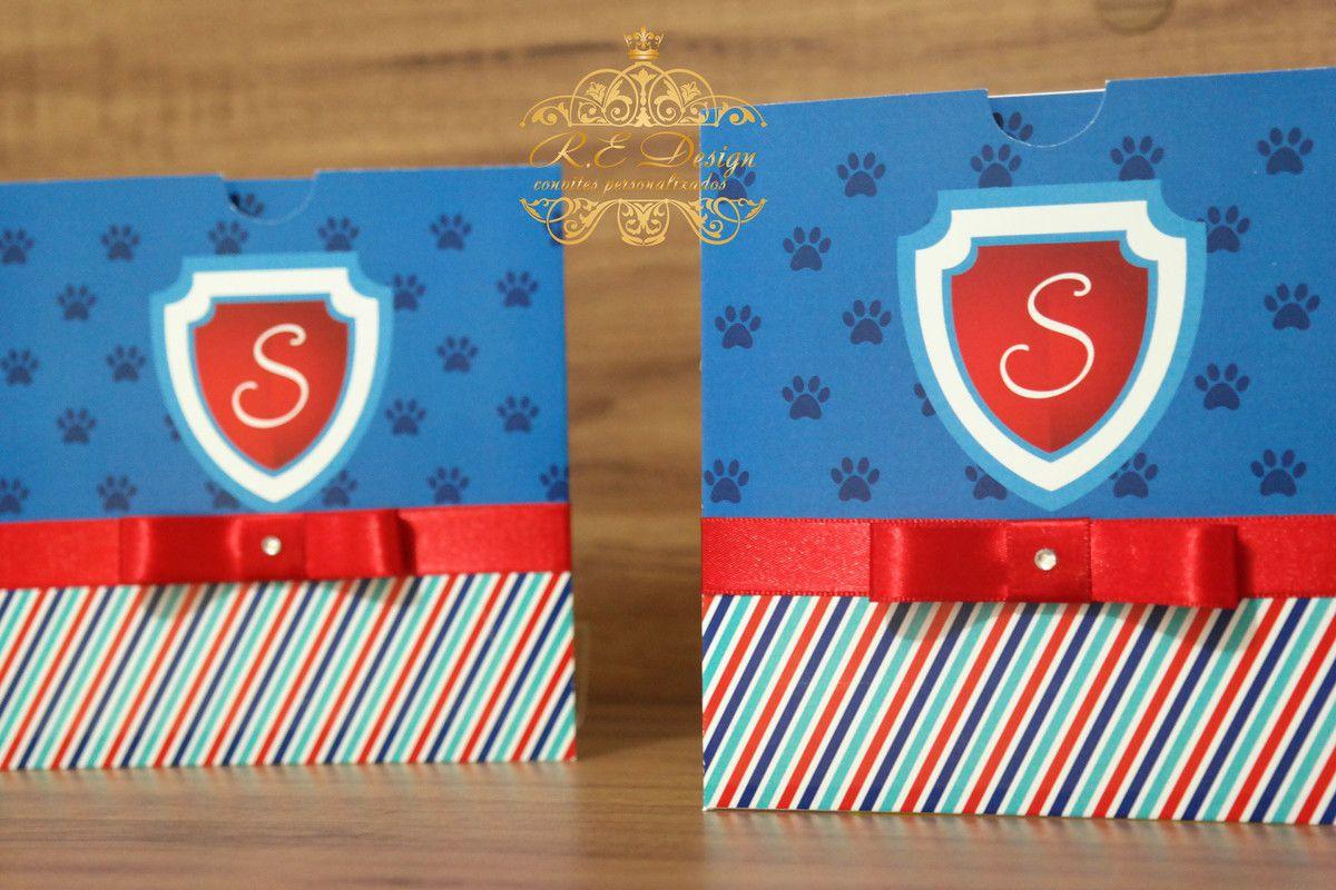 Convite Infantil Patrulha Canina com Envelope