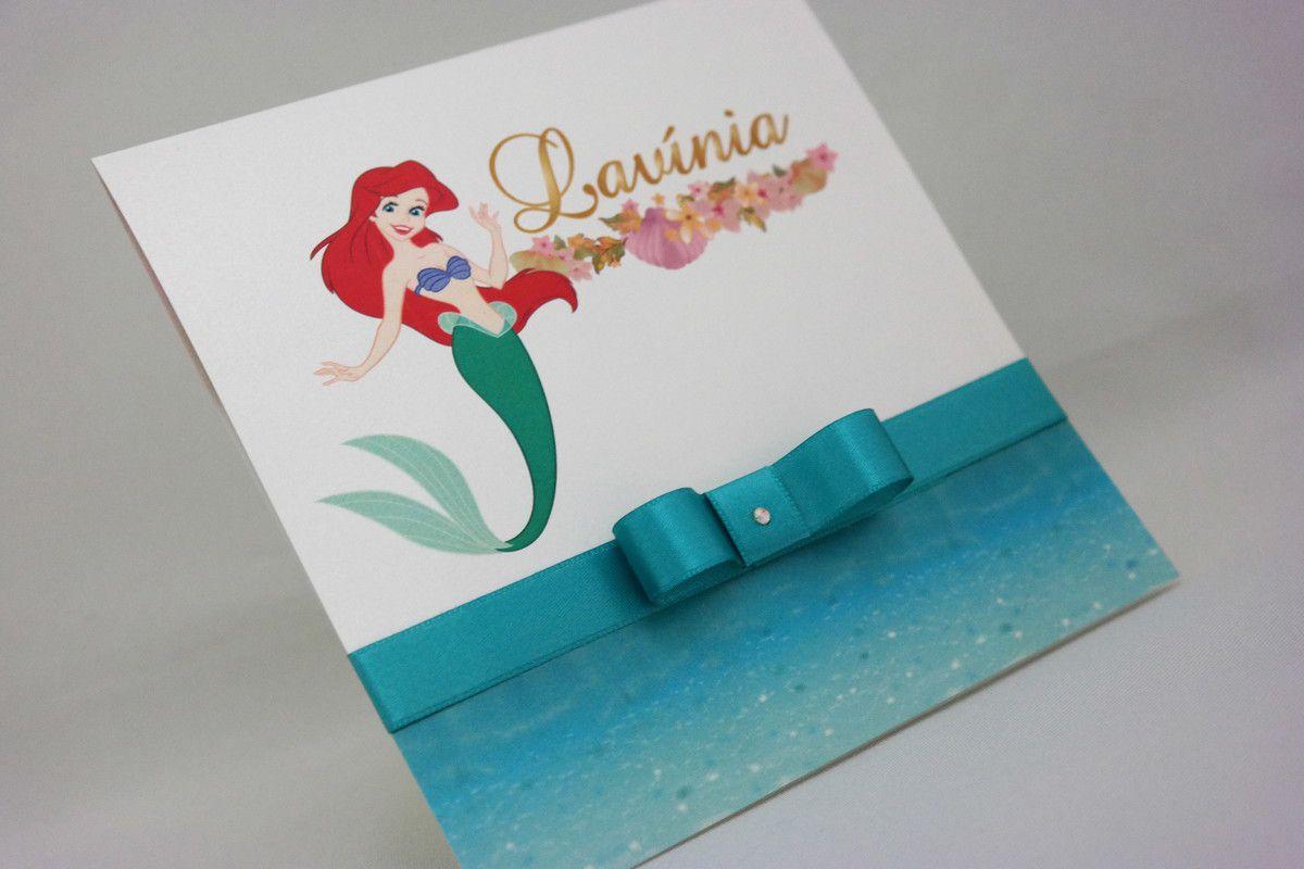 Convite Infantil Princesa Ariel