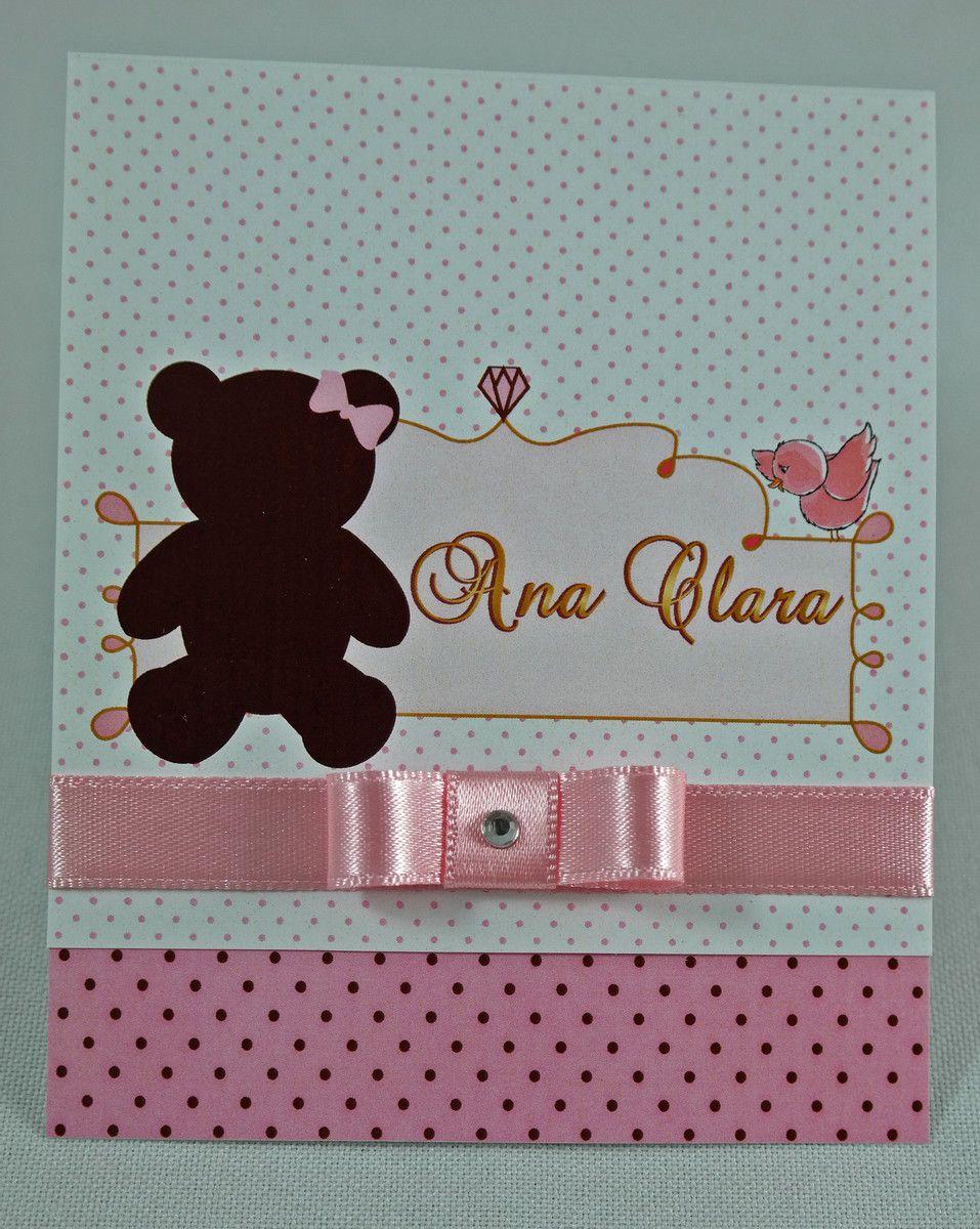 Convite Infantil Princesa Ursa