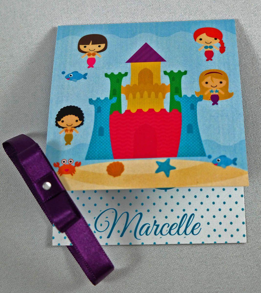 Convite Infantil Sereia