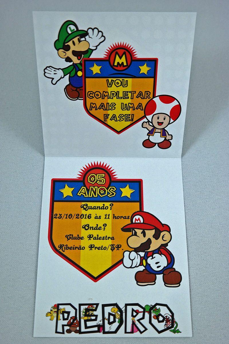 Convite Infantil Super Mario Bros