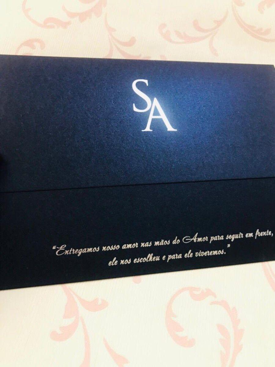 Convite para Casamento Luxo com Hot Stamping