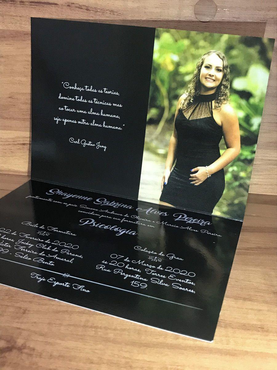 Convite para Formatura com Laminação Brilho