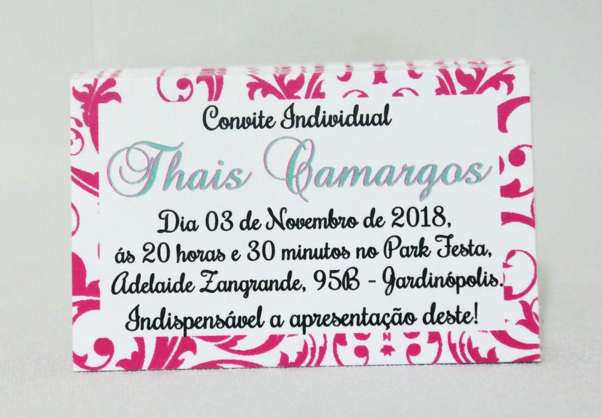 Convites Individuais para 15 anos