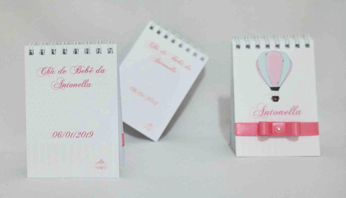 Lembrancinha Chá de Bebê - Bloquinho de Anotações Personalizado