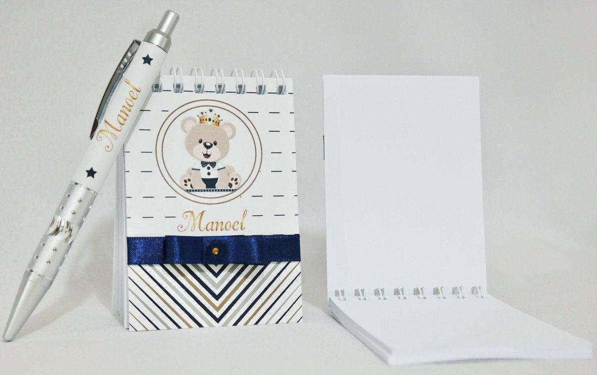 Lembrancinha Infantil - Bloquinho de Anotações com Caneta Personalizada