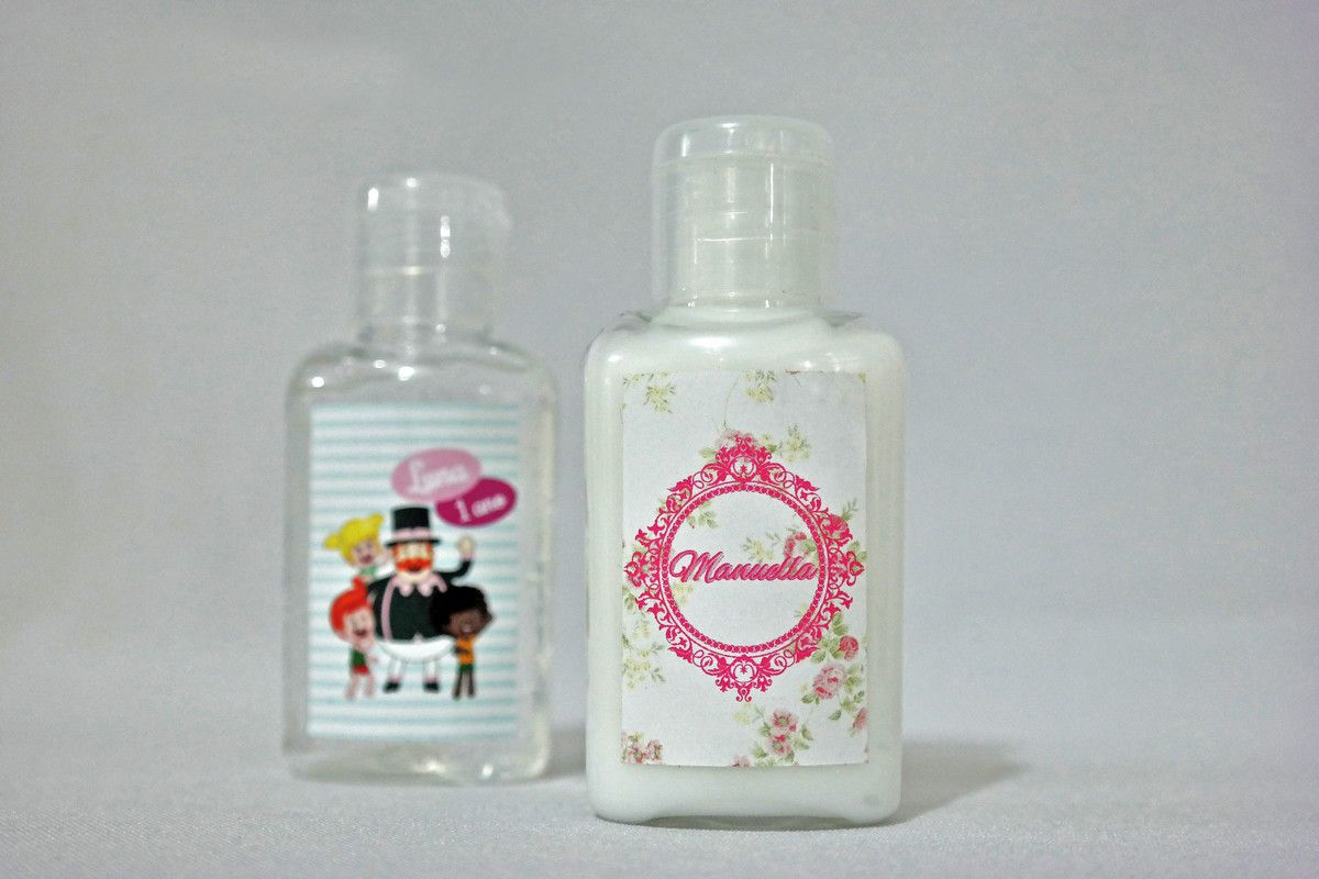 Lembrancinha Infantil - Kit Mini Hidratante e Álcool Gel