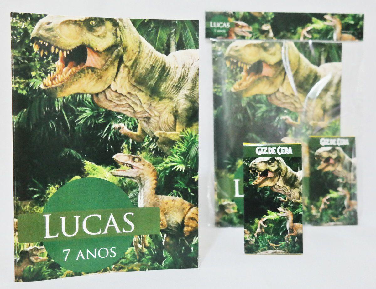 Lembrancinha Infantil Kit para Colorir Jurassic Park