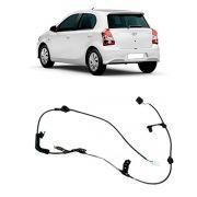 Sensor Velocidade ABS Bosch Tras Toyota Etios 2012 a 2016
