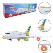 AVIAO SUPER AIR SOM LUZ E MUSICA DM TOYS DMT5616