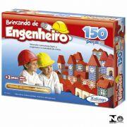 BLOCOS DE MONTAR BRINCANDO DE ENGENHEIRO MADEIRA 150 PECAS XALINGO 5305.4