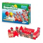 BLOCOS DE MONTAR ENGENHEIRO MADEIRA 200 PEÇAS 53065 XALINGO