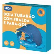BOIA TUBARAO COM FRALDA E PARA-SOL AZUL 001958AZUL