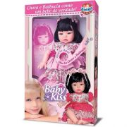 BONECA BABY KISS MORENA ESTILO REBORN SID-NYL 910SD