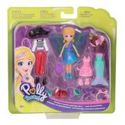 BONECA POLLY POCKET KIT CACHORRINHO FANTASIAS MATTEL GDM15