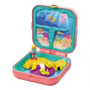 BONECA POLLY POCKET MALETA NO FUNDO DO MAR CAVERNA DA SEREIA MATTEL GDK77