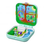 BONECA POLLY POCKET MALETA NO FUNDO DO MAR FLORESTA MAGICA MATTEL GDK79