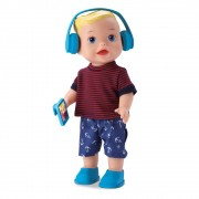 BONECO MY LITTLE BOY BLUSA LISTRA VERMELHA 8051 DIVERTOYS