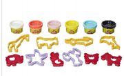CONJUNTO MASSINHA PLAY DOH MOLDES ANIMAIS