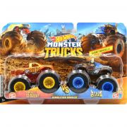 CONJUNTO VEICULO MONSTER TRUCKS HOT WHEELS C/ 2 UNID 1:64 GTB70