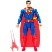DC COMICS LIGA DA JUSTIÇA FIGURA SUPERMAN COM LUZ E SOM 30 CM