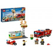 LEGO CITY RESGATE NA HAMBURGUERIA COMBATE AO FOGO 60214 LEGO