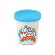MASSINHA DE MODELAR DIVER MASSA AZUL CLARO 8077 DIVERTOYS
