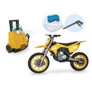 MOTO CROSS WASH GARAGE AMARELO 452 USUAL PLASTIC