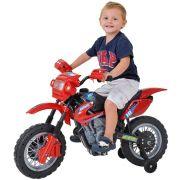 MOTO ELETRICA INFANTIL MOTOCROSS VERMELHO HOMEPLAY 244