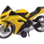 MOTO EVOLUTION STREET COM FRICÇÃO AMARELO 186 BS TOYS