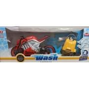 MOTO SPORT WASH GARAGE VERMELHO 460 USUAL BRINQUEDOS