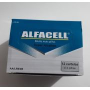 PILHA ALCALINA AA CAIXA C/12 CARTELAS ALFACELL LR64C