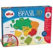 QUEBRA CABEÇA 3D MAPA DO BRASIL PLÁSTICO 1109 ELKA