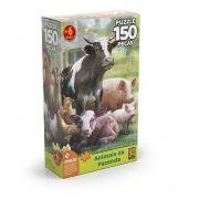 QUEBRA CABEÇA ANIMAIS DA FAZENDA 150 PEÇAS PUZZLE 03751 GROW