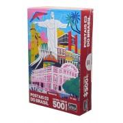 QUEBRA CABEÇA POSTAIS DO BRASIL 500 PECAS 2687 TOYSTER