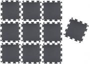 TAPETE TATAME EVA PRETO KIT 10 UNID. (50 x 50cm x 10mm)