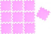 TAPETE TATAME EVA ROSA KIT 10 UNID. (50 x 50cm x 10mm)