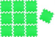 TAPETE TATAME EVA VERDE CLARO KIT 10 UNID. (50 x 50cm x 10mm)