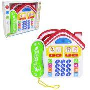 TELEFONE DIVERTIDO CASA COM LUZ E SOM DM TOYS DMT2961