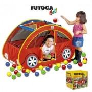 TOCA FUTOCA BALL CARRO COM 150 BOLINHAS 620A BRASKIT