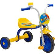 TRICICLO YOU 3 BOY AZUL COM AMARELO NATHOR 60001