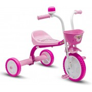 TRICICLO YOU 3 GIRL ROSA COM BRANCO 60002 NATHOR